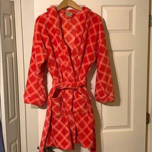 NWOT VERA BRADLEY / plush plaid robe